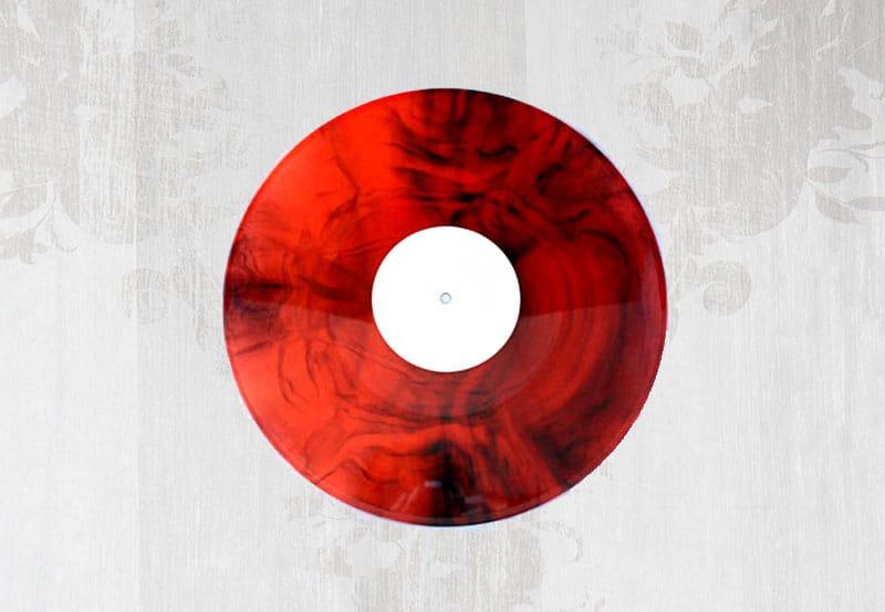 Vinyl Schallplattenpressung Marbled Vinyl
