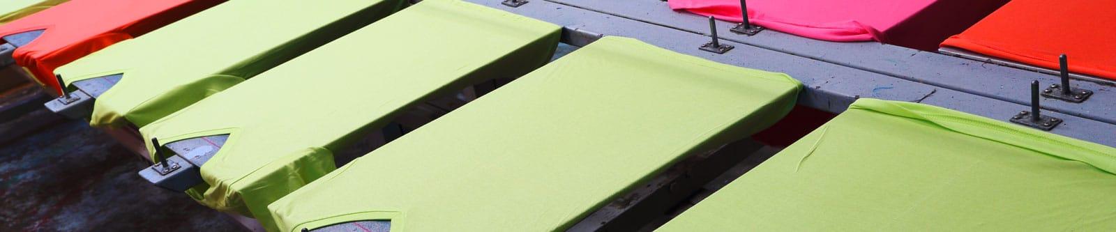 Textildruck Textilveredelung Siebdruck Digitaldirektdruck Stick Header