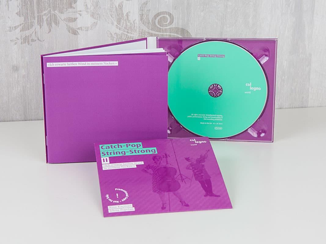 CD-Pressung im Digipack (partieller Glanzlack) und eingeklebtes Booklet