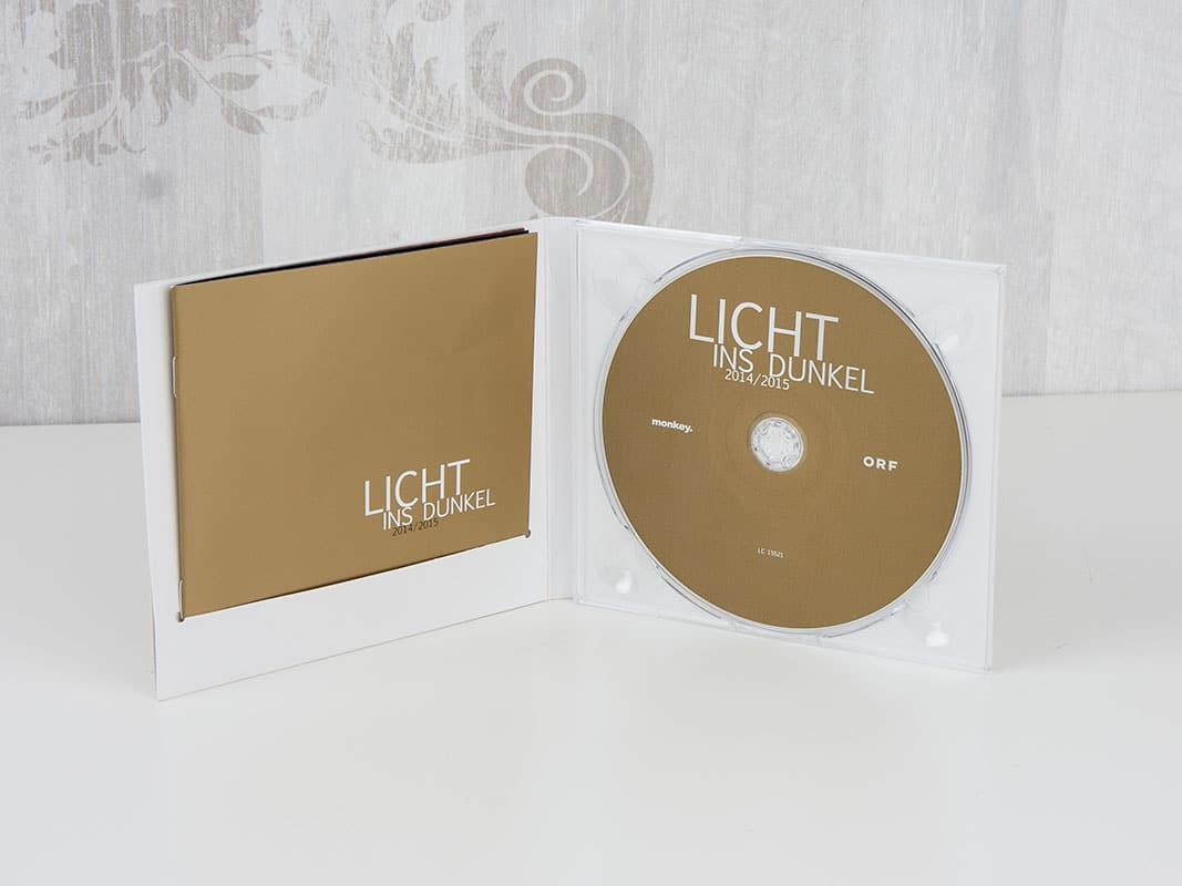 CD im Digipack mit Metallic Gold