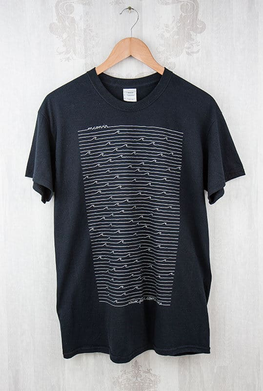 T-Shirt Siebdruck Metallic Silber