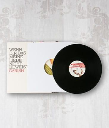 12inch Vinyl Schallplatte Pressung im LP-Sleeve mit farbigen Vinyl-Labels