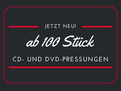 CD- und DVD-Pressungen ab 100 Stück!